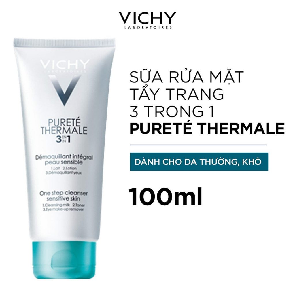 Sữa rửa mặt tẩy trang 3 trong 1 Pureté Thermale 3 In 1 One Step Cleanser Sensitive Skin
